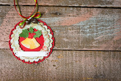 Handmade Christmas decoration Royalty Free Stock Photo