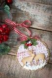 Handmade Christmas decoration Stock Photography