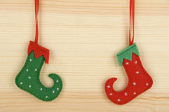 Handmade Christmas decorations Stock Photos