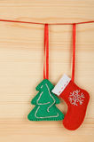 Handmade Christmas decorations Stock Photo