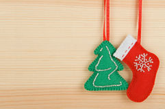Handmade Christmas decorations Royalty Free Stock Photo