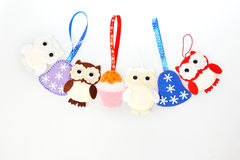 Handmade Christmas decorations Royalty Free Stock Images