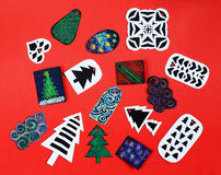 Handmade christmas gift tags Royalty Free Stock Photography