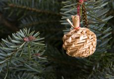 Handmade christmas ornament Stock Photography