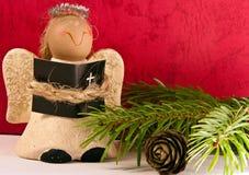 Handmade Christmas Ornament with Angel - Macro Royalty Free Stock Photography