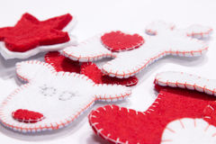Handmade Christmas toys. Stock Photo