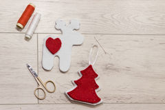 Handmade Christmas toys. Stock Images
