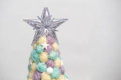 Handmade Christmas tree close up as a background. ! Stock Photos
