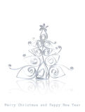 Handmade Christmas tree cut out from office paper Royalty Free Stock Photo