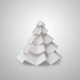 Handmade Christmas tree cut out from office paper Royalty Free Stock Images