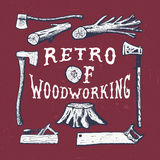 Handmade cioska, samolot, drzewo, fiszorek, hacksaw Royalty Ilustracja