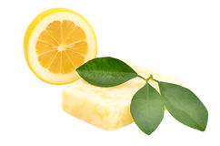Handmade citrus soap Stock Image