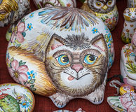 Handmade clay cats Royalty Free Stock Photography