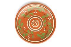 Handmade clay dish Royalty Free Stock Photo