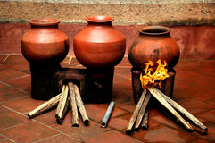 Handmade clay oldest pots Royalty Free Stock Images