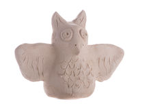 Handmade clay owl Stock Photo