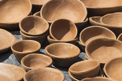 Handmade clay pots - Brazilian northeast culture Stock Image