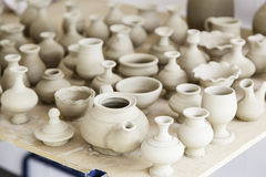 Handmade clay pots Royalty Free Stock Photos