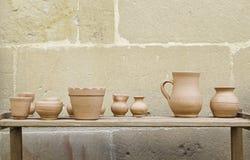 Handmade clay pots Stock Photo