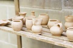 Handmade clay pots Stock Photography