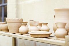 Handmade clay pots Royalty Free Stock Photo