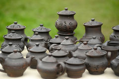 Handmade clay pots Royalty Free Stock Image