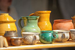 Handmade clay pots Stock Photo
