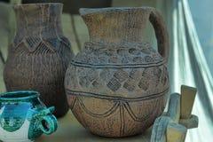 Handmade clay pots Royalty Free Stock Image