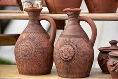 Handmade clay pots Stock Images