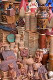 Handmade clay showpieces from Bangladesh Stock Image