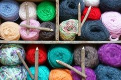 Handmade clock, wool, time, clockwise Royalty Free Stock Image