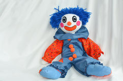 Handmade clown doll Stock Photography