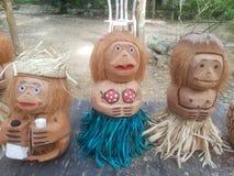 Handmade coconut design from locals in cebu stock photo