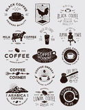Handmade Coffee Badges Collections Stock Photos