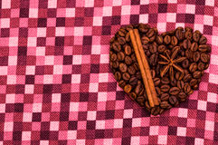 Handmade coffee heart Royalty Free Stock Image