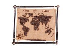 Handmade coffee map. Stock Photos