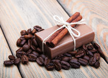Handmade coffee scented soap Royalty Free Stock Photography