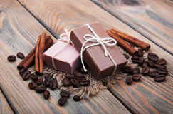 Handmade coffee scented soap Stock Photography