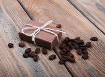 Handmade coffee scented soap Royalty Free Stock Photos