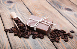 Handmade coffee scented soap Stock Photo