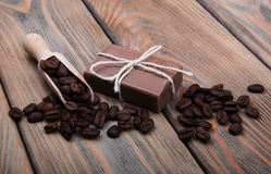 Handmade coffee scented soap Royalty Free Stock Images