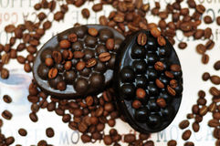 Handmade coffee soap Stock Images