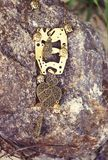 handmade Collar con buddhas en la piedra el día soleado Foto de archivo libre de regalías