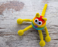 Handmade color cat doll Stock Images