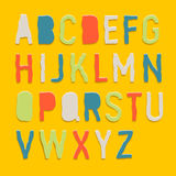 Handmade color paper crafting alphabets Stock Photography