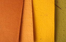 Handmade color papers Stock Photography