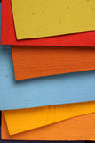 Handmade color papers Royalty Free Stock Images