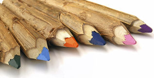 Handmade color pencil Stock Image