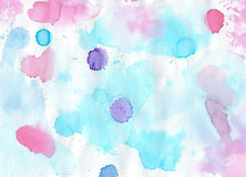 Handmade colorful  aguarelle  background for scrapbooking and ot Royalty Free Stock Images