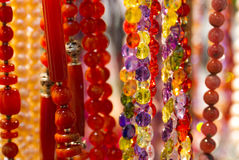 Handmade colorful beads Royalty Free Stock Image